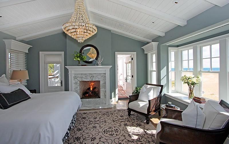 斜顶蓝色田园风清新卧室装修效果图
