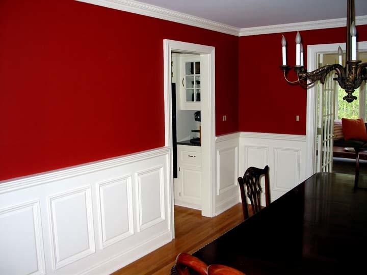 欧式风格别墅餐厅红色墙面设计欣赏