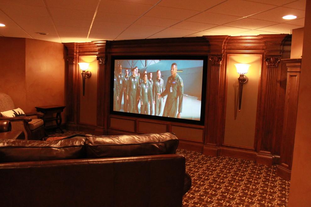 欧式风格别墅奢华放映室装修效果图