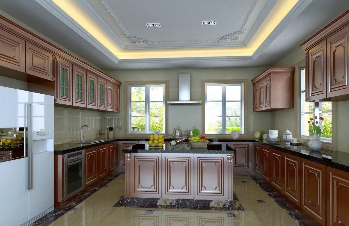 美式大厨房装修效果图