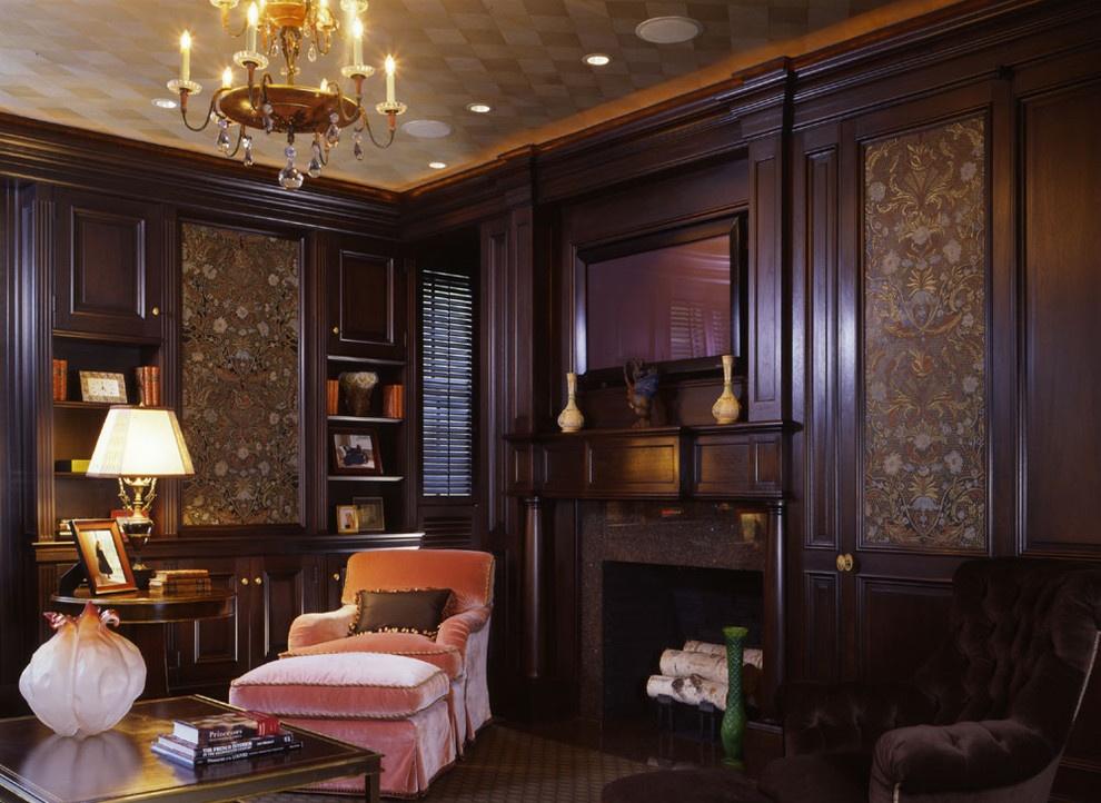 美式风格客厅护墙板效果图