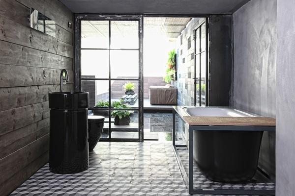 loft风格家庭办公室装修效果图--点点美家
