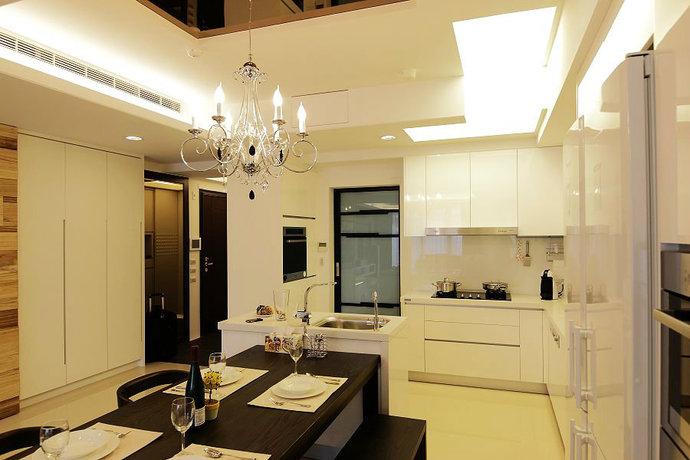 160平米现代简约风格大户型家装效果图