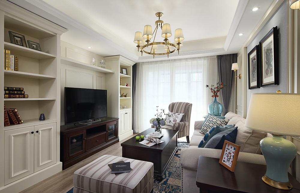 南京湖城意境现代美式客厅
