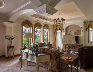 265㎡典型美式风格 顶层复式豪宅别墅设计