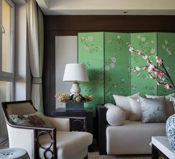 140平四居室传统与时尚的碰撞 新中式诠释现代家居
