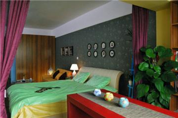 古韵梅香中式两室一厅设计案例