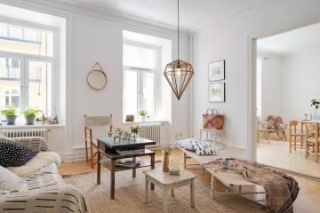 简欧风格三居室室内家装设计效果图