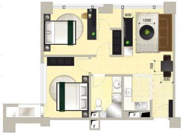 混搭宜家两室一厅设计欣赏