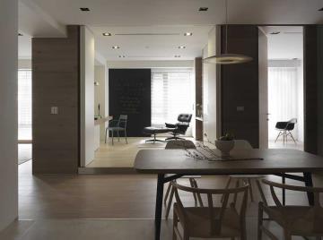 清爽简约风格89平一居室装修样板