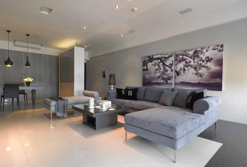 纯粹现代简约风格一居室装潢设计案例