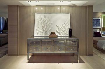 艺术时尚简欧风格三居装潢案例