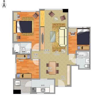 白色典雅简约风格三居室装潢案例