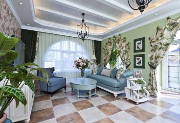 5房别墅演绎地中海清新风格