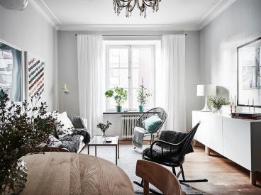 54平里的完美布局打造出简洁温暖公寓