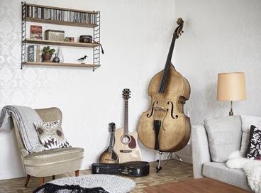 吉他手家没有一味追求与众不同,看着就舒心