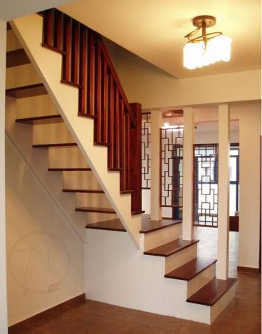 现代中式复式住宅装修设计效果图