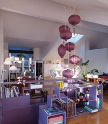 新中式风混搭紫色小复式