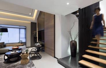 260平东方风黑白基调的四室两厅
