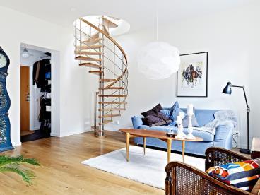 66平米的双层阁楼公寓
