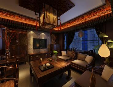 凤凰名城-中式风格-四居室-装修案例