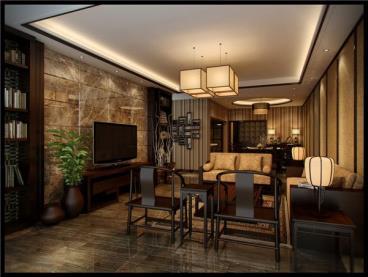 现代与传统的结合 完美新中式四居室