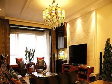 中式浪漫四居室公寓装修设计实景图