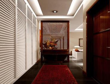 中式古典四居三口之家装修设计效果图