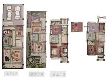 印象江南-欧美风情-四居室-装修案例
