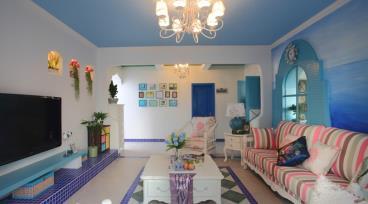 唯美地中海风格 西山庭院清雅四居室