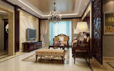 长房白沙湾-中式古典-四居室