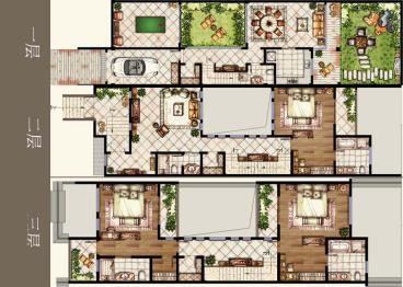常州常发广场-欧美风情-四居室-装修案例