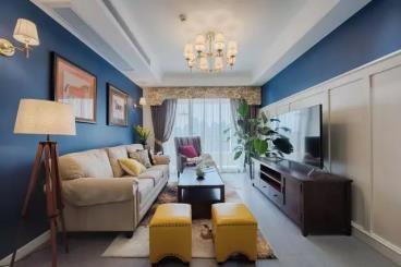 66㎡美式风格两居室