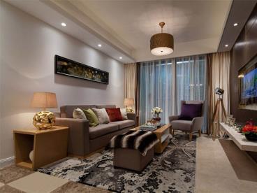 98㎡现代风格半包三居室