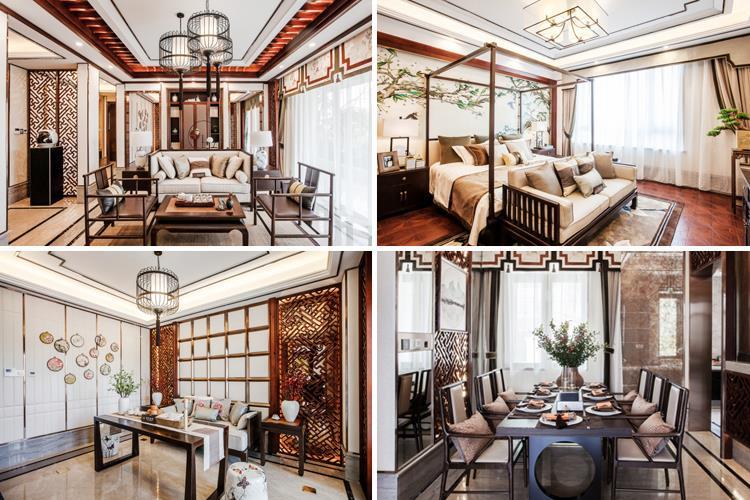 中式三居装修效果
