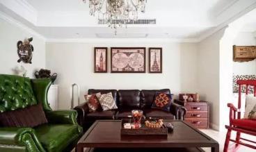 117㎡美式风格三居室