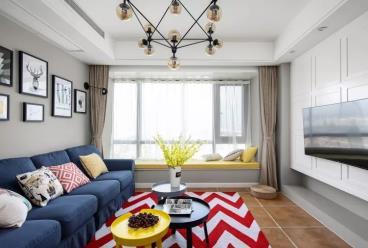 117㎡现代美式两居室