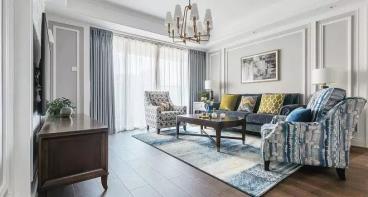 131㎡现代美式风格四居室
