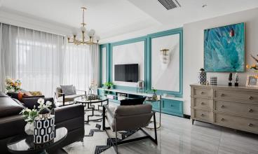 140㎡轻奢典雅美式三居室