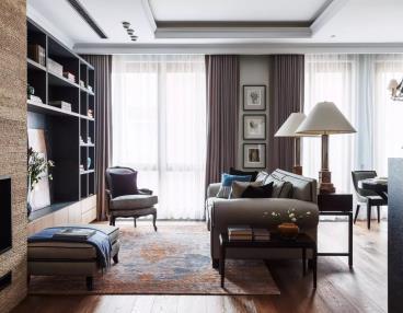 110㎡现代古典风三居室