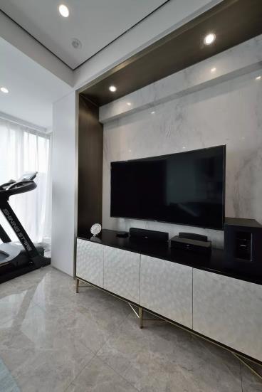110㎡时尚现代台式三居室