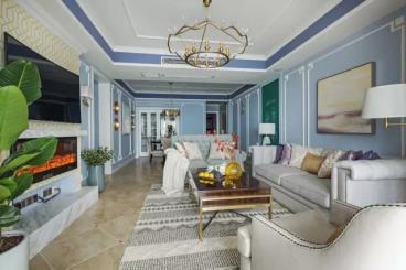 128㎡美式风格三居室