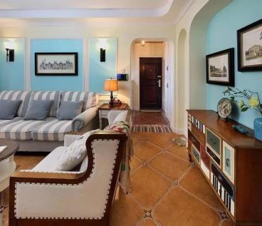 135㎡美式风格三居室