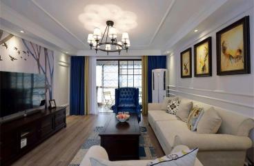 120㎡现代美式三居室