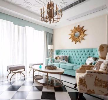 136㎡现代美式风格三居室