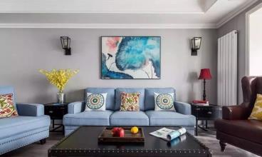 120平米美式风格三居室