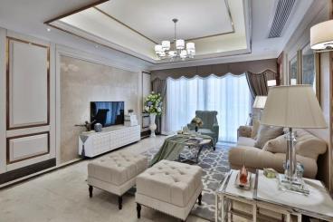 103㎡现代欧式风格三居室
