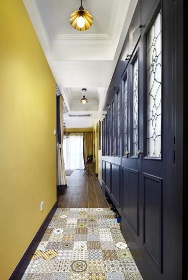 86㎡多彩美式装修两居室