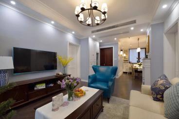 100㎡现代美式风两居室