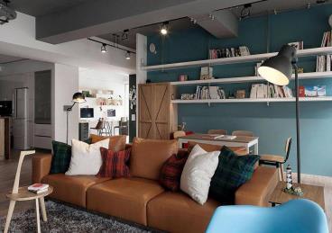 149㎡三居清新秀气的两居室温馨舒适案例